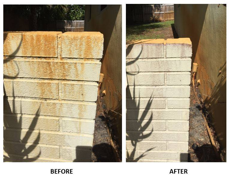 rust removal and brick restoration dallas fort worth